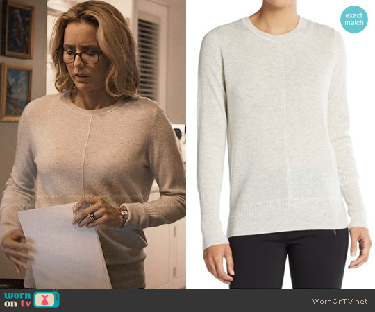 Vince Wool & Cashmere Raised Seam Sweater worn by Téa Leoni on Madam Secretary