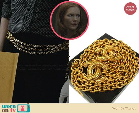 Vintage Chanel Chain Belt worn by Darby Stanchfield on Scandal