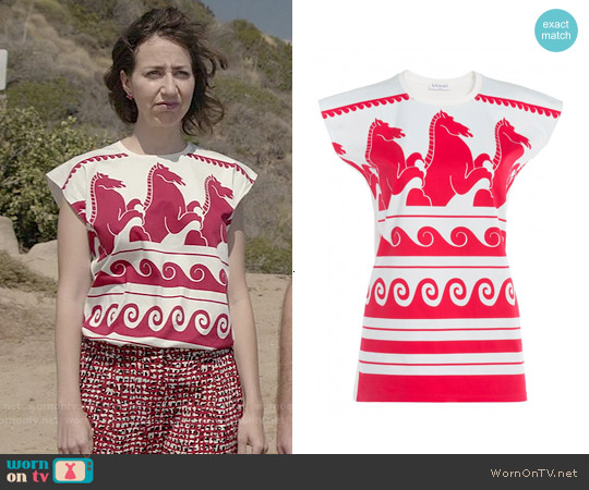 Vionnet Wave Print Jersey T-shirt worn by Kristen Schaal on Last Man On Earth