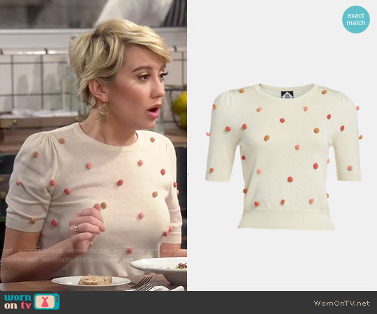 Viva Vena Used Bookstore Pompom Pullover worn by Chelsea Kane on Baby Daddy