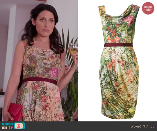 Vivienne Westwood Red Label Floral Draped Jersey Dress worn by Lisa Edelstein on GG2D
