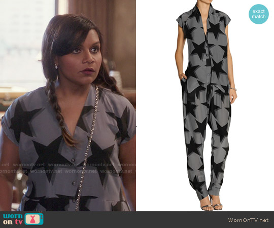 Vivienne Westwood Discovery Printed Jumpsuit worn by Mindy Kaling on The Mindy Project