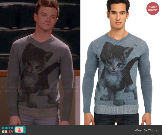Vivienne Westwood Gold Label Kitten Sweater worn by Chris Colfer on Glee