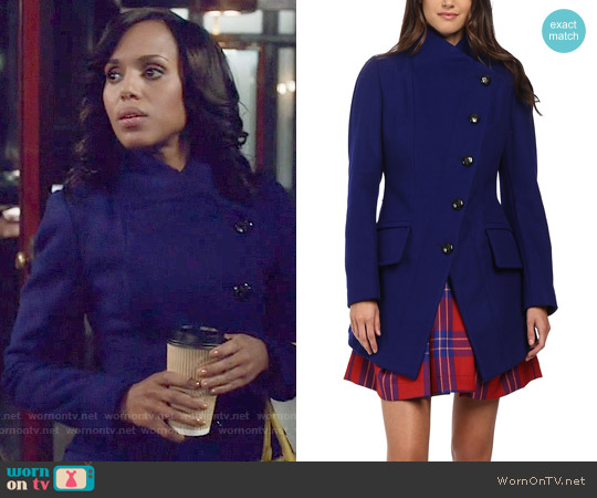 Vivienne Westwood State Coat in Royal Blue worn by Kerry Washington on Scandal