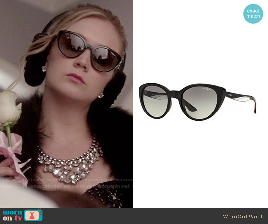 Chanel Style Sunglasses  wornontv chanel 3 s black embellished crop top and bib necklace