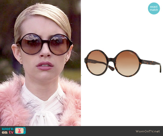 Vogue Eyewear #VO 2919S Sunglasses worn by Emma Roberts on Scream Queens