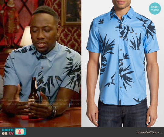 Volcom Pina Shirt worn by Lamorne Morris on New Girl
