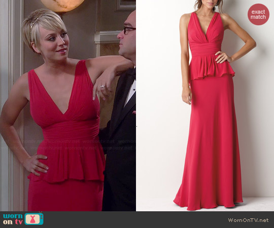 Watters Dress #8516 in Peony worn by Kaley Cuoco on The Big Bang Theory