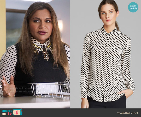 Weekend Max Mara Venas Shirt worn by Mindy Kaling on The Mindy Project