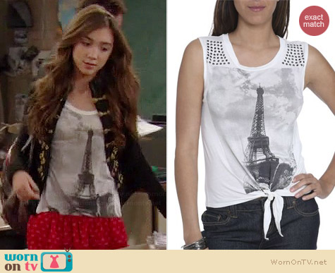 Wet Seal Eiffel Tower Tee worn by Rowan Blanchard on Girl Meets World