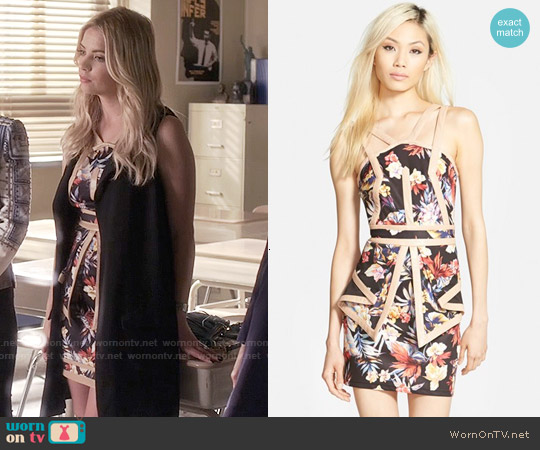 Whitney Eve 'The Baths' Strappy Floral Print Dress worn by Ashley Benson on PLL