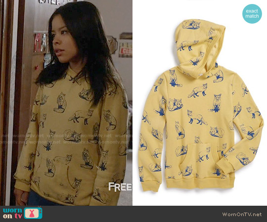 Wildfox 'Fox Toile' Graphic Hoodie worn by Cierra Ramirez on The Fosters