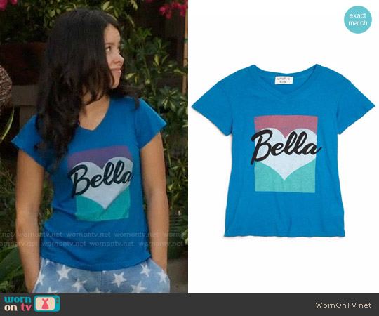 Wildfox Girls Bella Pop T-shirt worn by Cierra Ramirez on The Fosters
