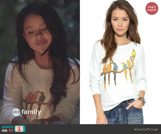 Wildfox Birds in Paradise Baggy Beach Jumper worn by Cierra Ramirez on The Fosters