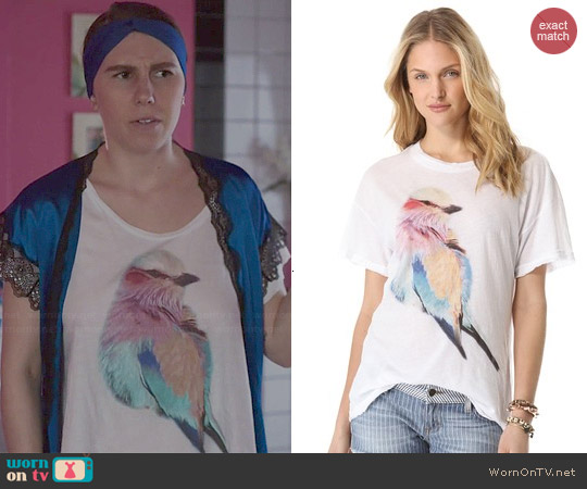Wildfox Bright Wing Tee worn by Zosia Mamet on Girls