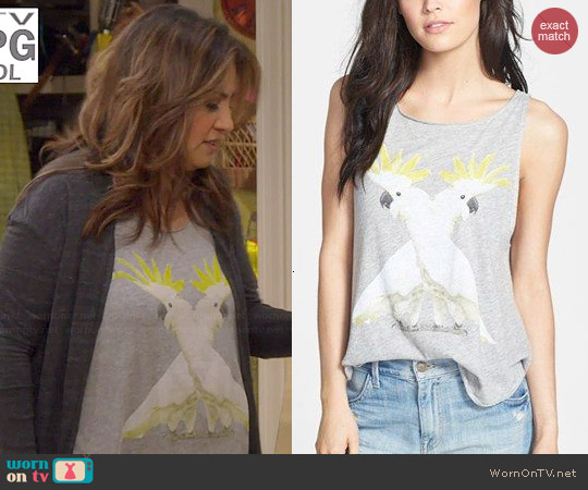 Wildfox Cockatoos Cassidy Tank worn by Cristela Alonzo on Cristela