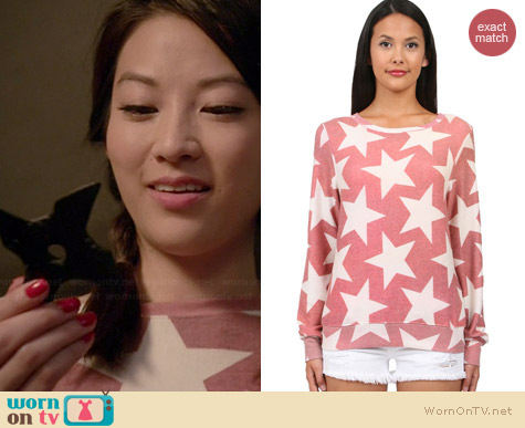 Wildfox Denim Stars Baggy Beach Jumper worn by Arden Cho on Teen Wolf