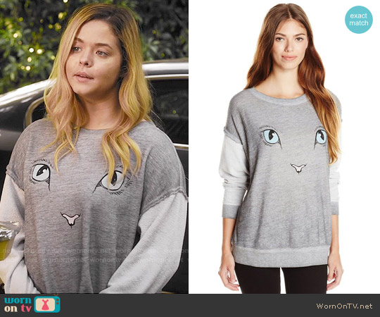 Wildfox Elton Sweatshirt worn by Sasha Pieterse on PLL