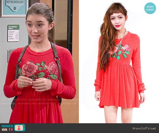 Wildfox English Rose Babydoll Dress worn by Rowan Blanchard on Girl Meets World