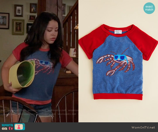 Wildfox Girls' Cool Crab Baggy Beach Jumper worn by Cierra Ramirez on The Fosters