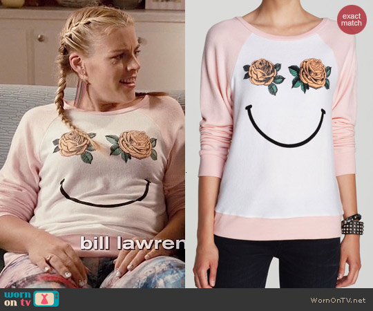 Wildfox Happy Roses Pullover worn by Busy Phillips on Cougar Town