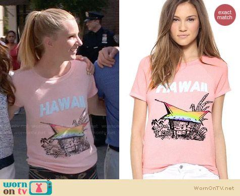Wildfox Hawaiian Rainbow Tee worn by Heather Morris on Glee
