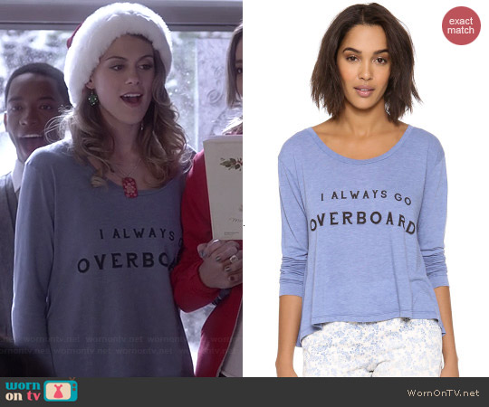 Wildfox Off The Deep End Tee worn by Lindsey Shaw on PLL
