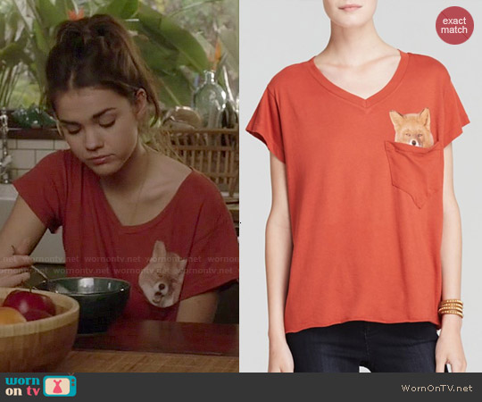 Wildfox Pocket Fox Tee worn by Maia Mitchell on The Fosters