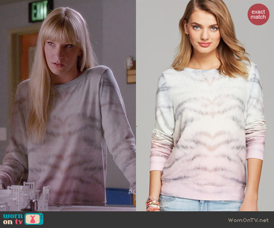 Wildfox Sherbert Tiger Pullover worn by Heather Morris on Glee