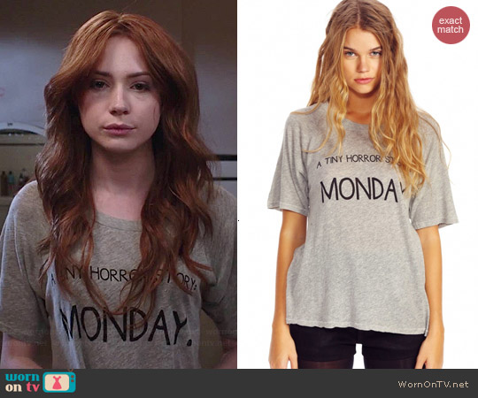 Wildfox Tiny Horror Story Tee worn by Karen Gillan on Selfie