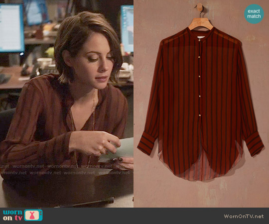 Le Fou by Wilfred Clemence Blouse worn by Willa Holland on Arrow