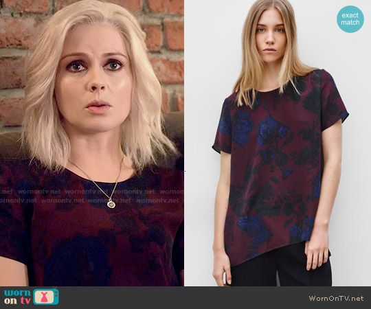 Wilfred Cyprés Blouse in Hush/Astral worn by Rose McIver on iZombie