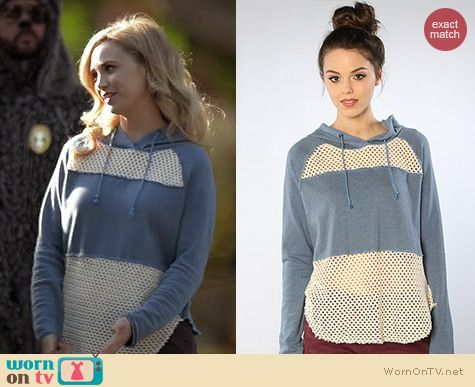 Wilfred Fashion: Free People Mesh Blocked Hoodie worn by Fiona Gubelmann