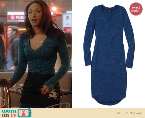 Wilfred Free Lisiere Dress in Aquila worn by Candice Patton on The Flash