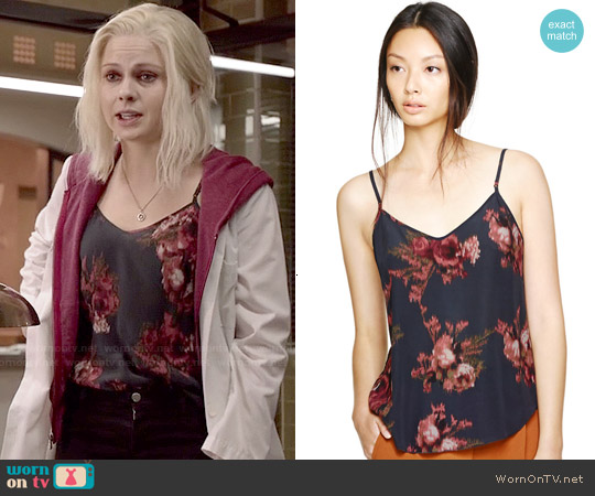 Wilfred Minou Camisole in Ebony/Truffle worn by Rose McIver on iZombie