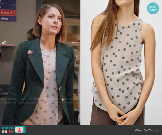 Wilfred 'S&eacutevres' Blouse in Bone / Vagabond worn by Willa Holland on Arrow