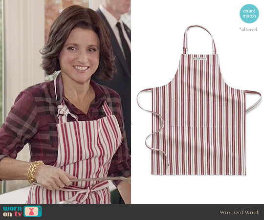 Williams-Sonoma Striped Apron worn by Selina Meyer on Veep