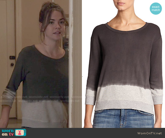 Wilt Cotton Tie Dye Sweatshirt worn by Maia Mitchell on The Fosters