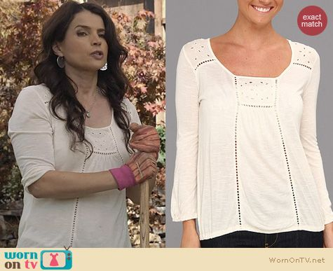 Witches of East End Fashion: Lucky Brand Cailey top worn by Julia Ormond