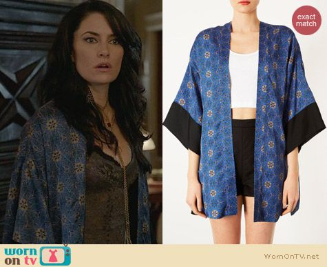 Witches of East End Fashion: Topshop Spider Floral Kimono worn by Madchen Amick