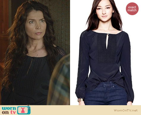 Witches of East End Fashion: Tory Burch Lillian Blouse worn by Julia Ormond