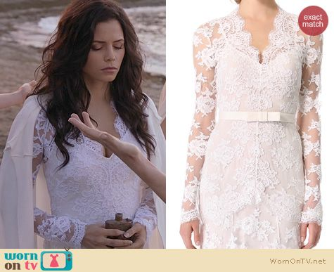 Witches of East End Fashion: Temperley London Guinevere Dress worn by Jenna Dewan-Tatum