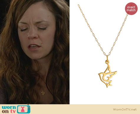 Witches Of East End Jewelry: Peggy Li Dove Charm Necklace worn by Rachel Boston