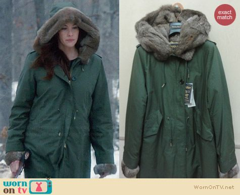 Woolrich John Rich & Bros Literary Walk Eskimo Coat worn by Liv Tyler on The Leftovers