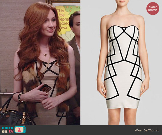 Wow Couture Bodycon Contrast Dress worn by Karen Gillan on Selfie