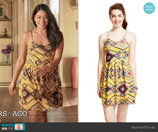 Xhilaration Cage Back Dress worn by Gina Rodriguez on Jane the Virgin