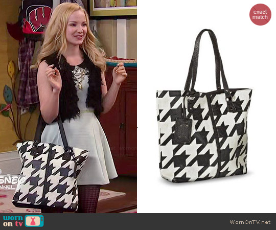 Xhilaration Houndstooth Tote Handbag worn by Liv Rooney on Liv & Maddie