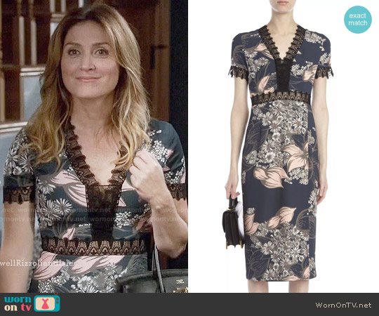 Yigal Azrouel Blooming Stargazer Dress worn by Sasha Alexander on Rizzoli & Isles