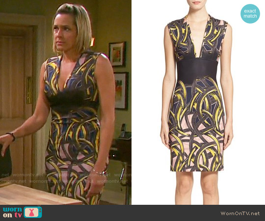 Yigal Azrouel Pop Art Print Scuba Sheath Dress worn by Arianne Zucker on Days of our Lives