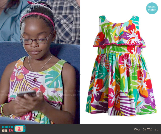 Youngland Tropical Floral Knit Sundress worn by Marsai Martin on Blackish